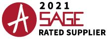 SAGE-rated supplier banner