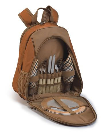 Fairmont 2 Person Picnic Backpack - Brown