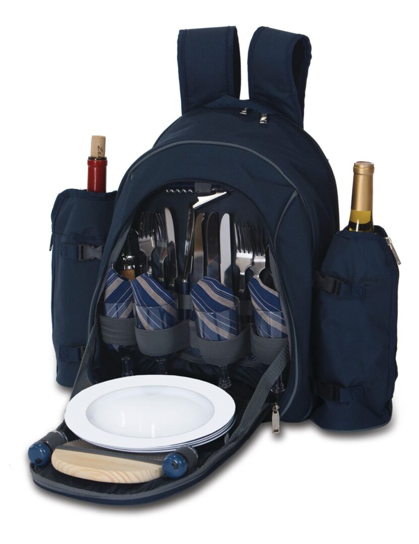 Stratton 4 Person Picnic Backpack - Navy
