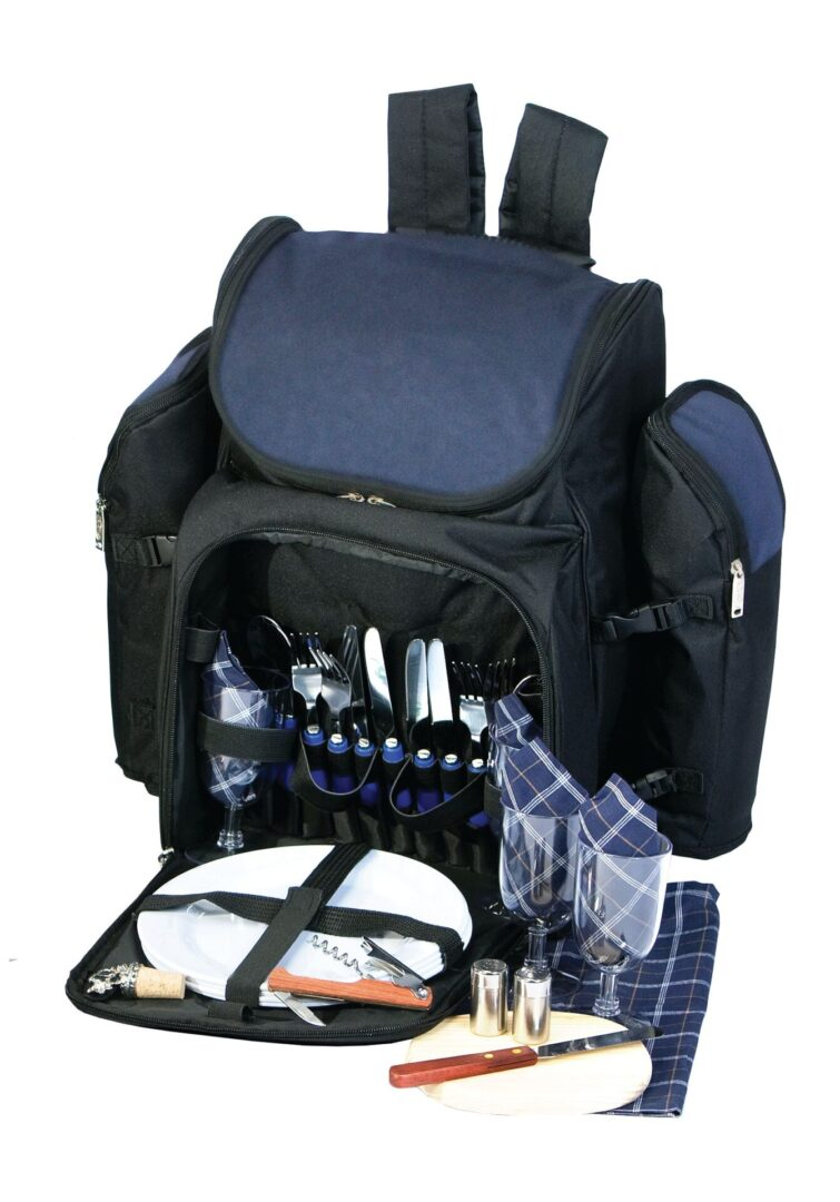 Tandoor 4 Person Picnic Backpack - Navy