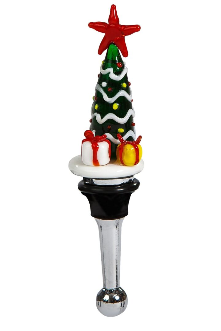 Christmas Tree Bottle Stopper - Christmas Tree w/gifts