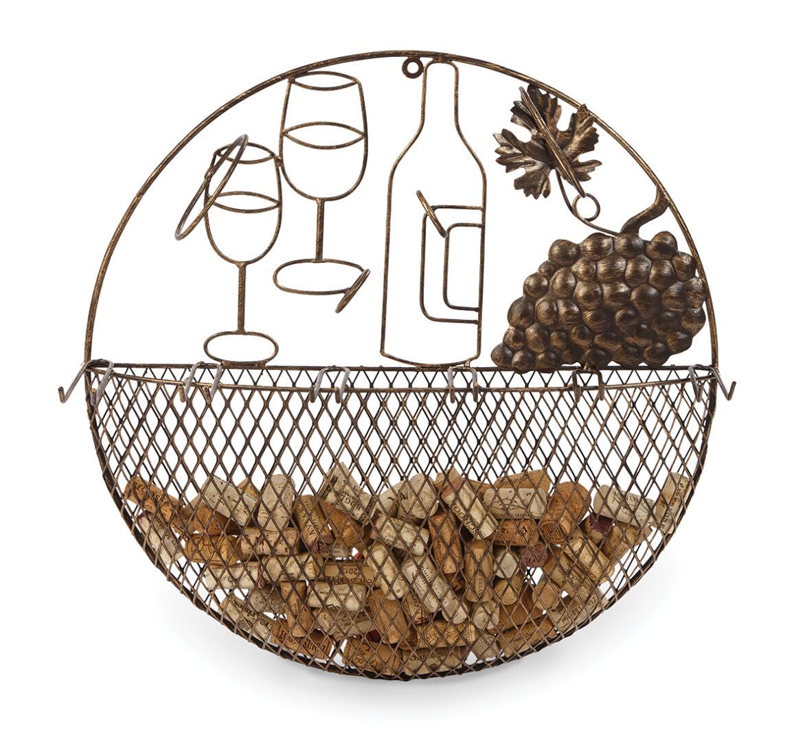 Cirkel Wall Wine Bottle/Glass/Cork Caddy