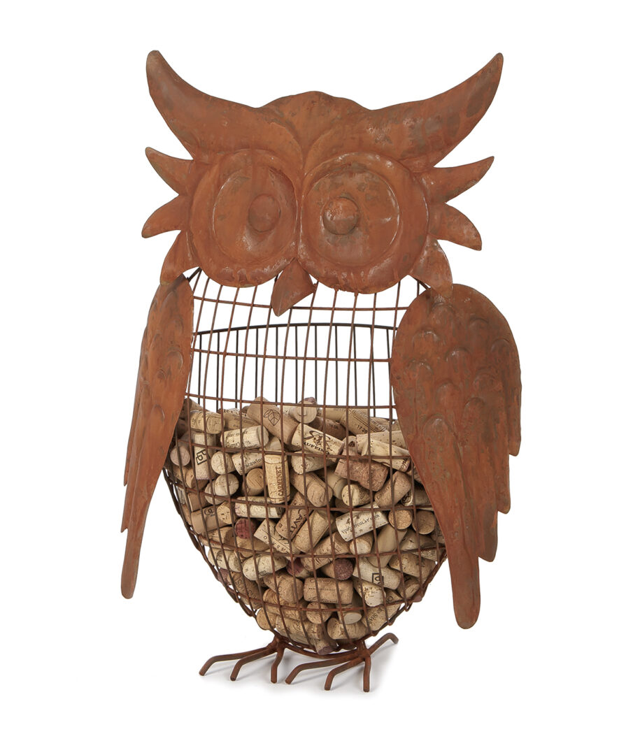 Large Owl Cork Caddy