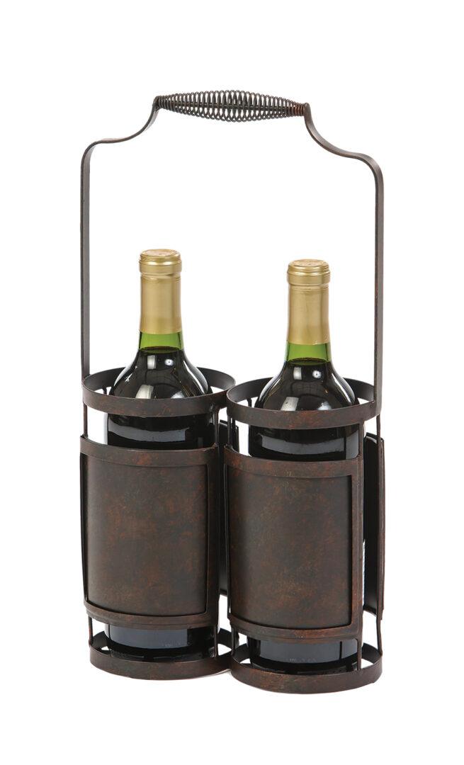 Doppia Wine Bottle Holder - Black