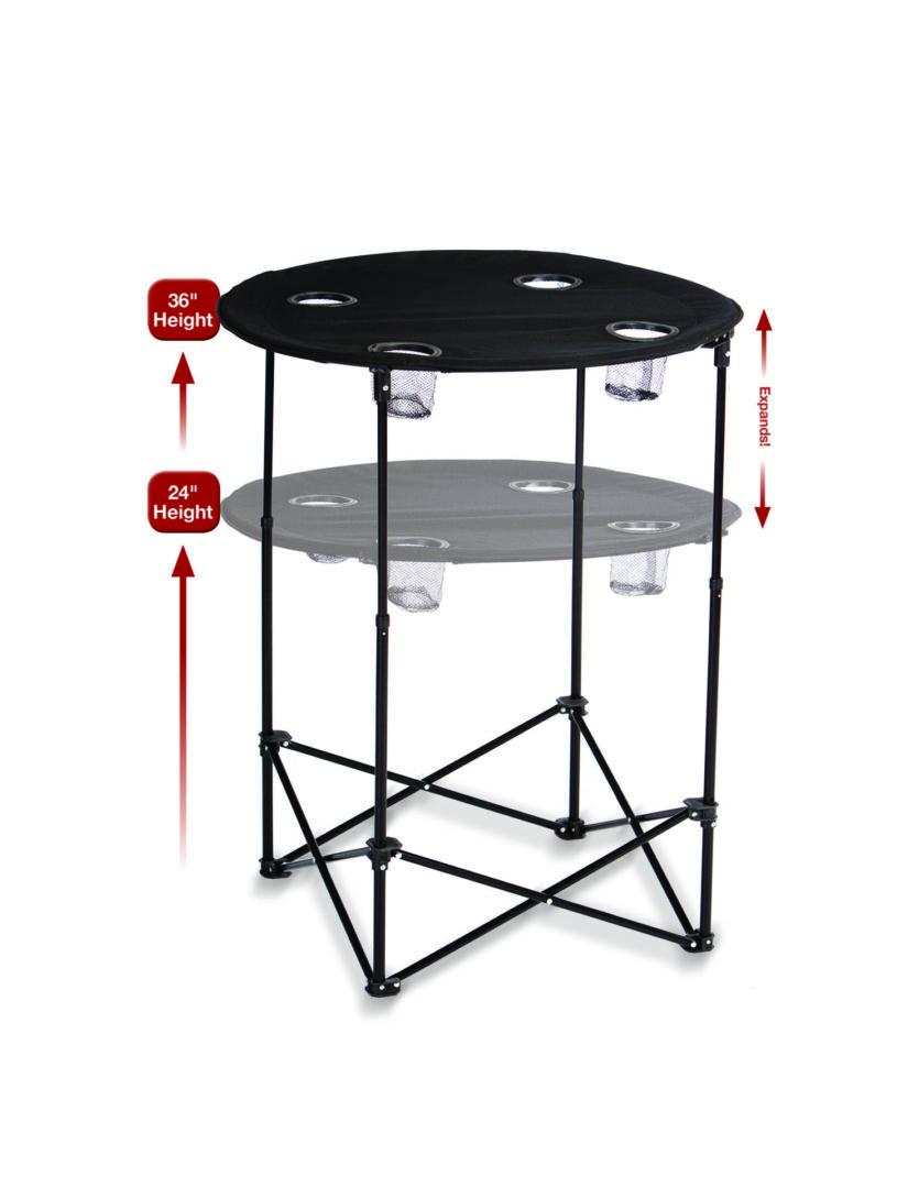 Scrimmage Tailgate Table - black