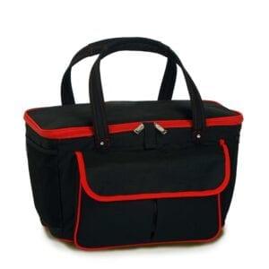 Avanti Cooler Tote - Black/Red