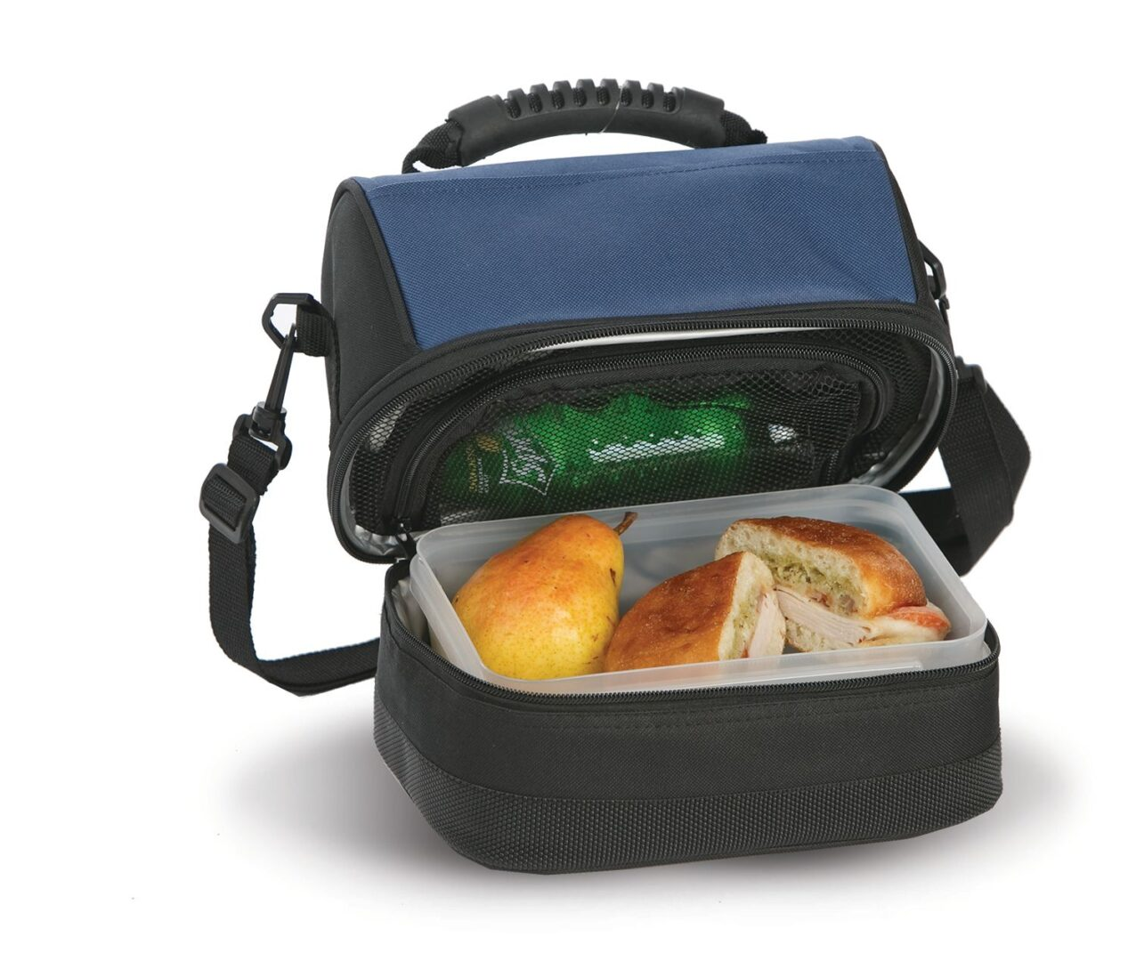 Columbus Lunch Tote - Black/Navy