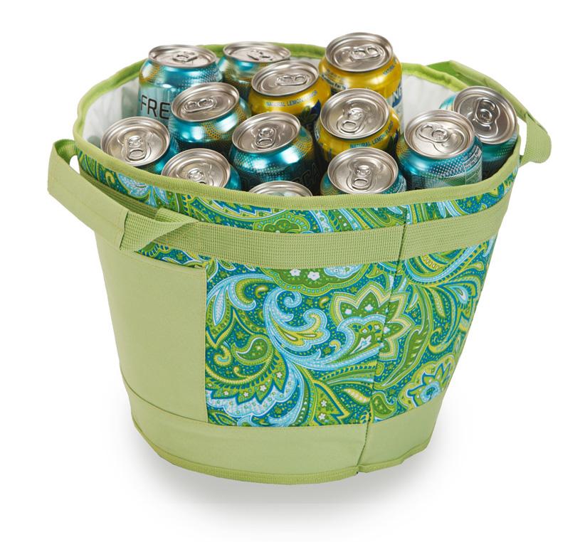Austin Ice Bucket - Green Paisley