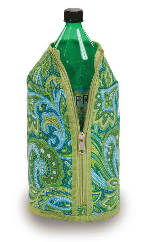 2 Liter Jacket - Green Paisley