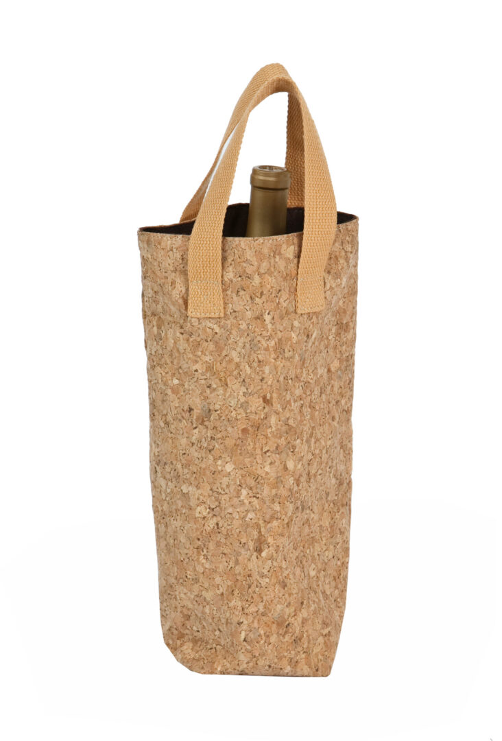 Cork Tote Single Bottle Bag - Cork