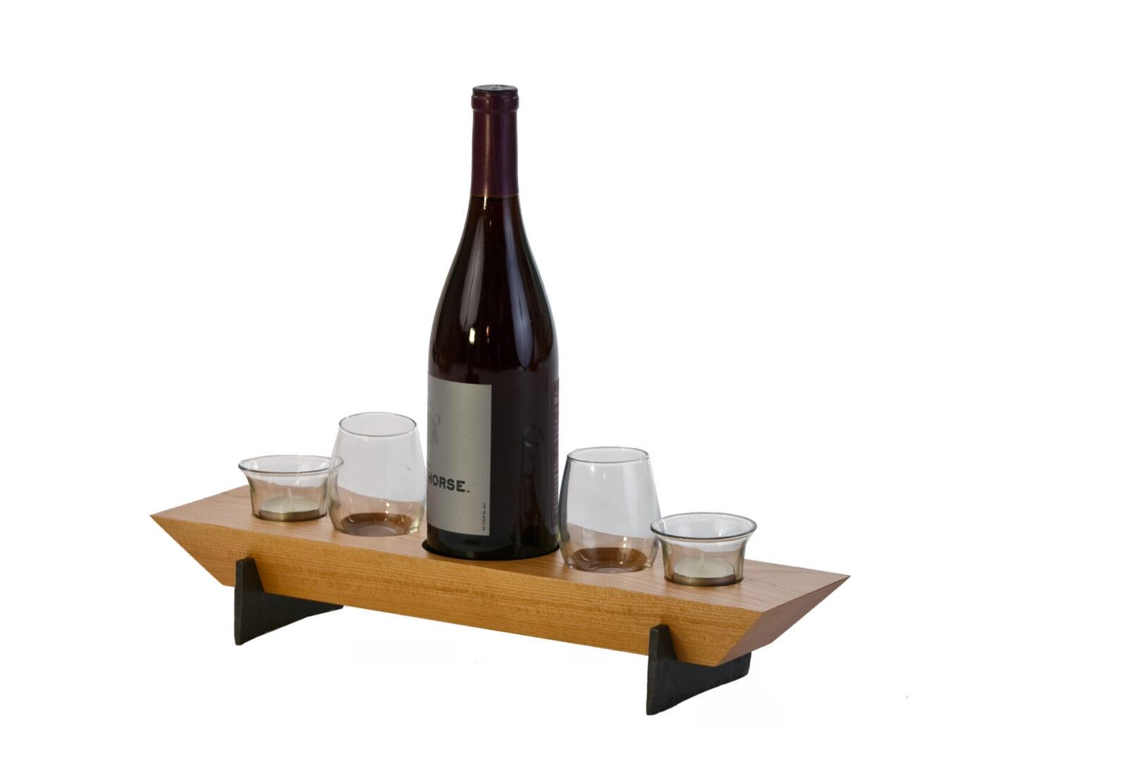 Village Combo 5 Wine & Votive Set-USA - Cherry